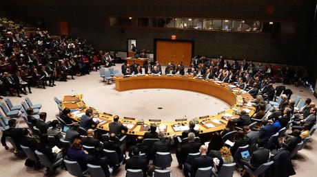 Der UN-Sicherheitsrat der Vereinten Nationen tagt zur Situation in Venezuela, 26. Januar 2019.