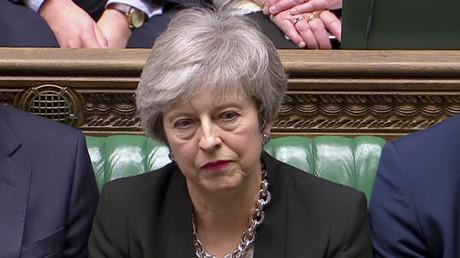 Die britische Premierministerin Theresa May während einer Parlamentsdebatte am 29. Januar 2019.