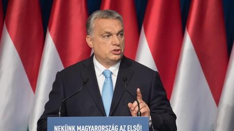 Der ungarische Ministerpräsident Viktor Orbán bei seiner Rede zur Lage der Nation am 10. Februar 2019 in Budapest.