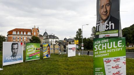 Vor der Landtagswahl 2014: Wahlplakate in Freital
