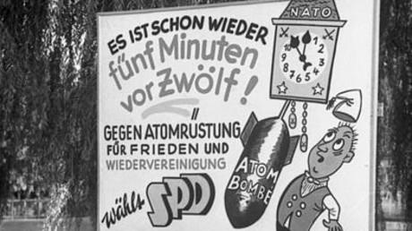 Kein ganz neues Thema: SPD-Wahlkampfplakat 1957