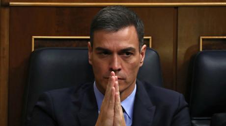 Der spanische Premierminister Pedro Sánchez am 13. Februar 2019 bei der Sitzung im Parlament in Madrid: Die katalanischen Unabhängigkeitsparteien stimmten gegen den Haushaltsplan seiner Regierung.
