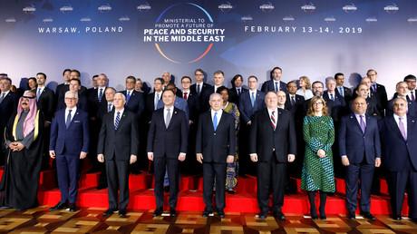 Gruppenbild der Teilnehmer bei der Nahost-Konferenz in Warschau, Polen, 13. Februar 2019.