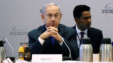 Israels Ministerpräsident Benjamin Netanjahu während der Nahost-Konferenz in Warschau.