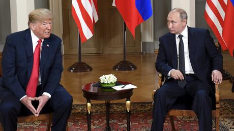 US-Präsident Donald Trump und sein russische Amtskollege Wladimir Putin während ihres Treffens in Helsinki (16. Juli 2018).