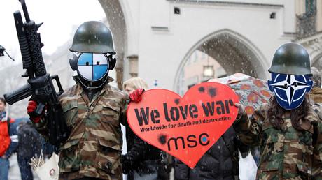 In jedem Jahr protestieren Friedensaktivisten gegen die Sicherheitskonferenz in München.