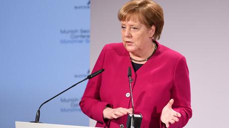 Kanzlerin Angela Merkel auf der Münchner Sicherheitskonferenz 2019