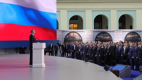 Wladimir Putin während seiner Rede zur Lage der Nation.