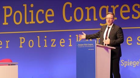 BKA-Chef Holger Münch während des Polizeikongresses.