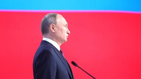 Wladimir Putin bei seiner Rede zur Lage der Nation am Mittwoch