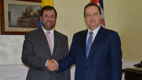 Gil und Dačić bei ihrem Treffen am Dienstag