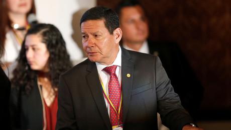 Brasiliens Vizepräsident Hamilton Mourão am 25. Februar 2019 während des Treffens der Lima-Gruppe in Bogotá, Kolumbien