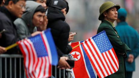 Warten auf Kim Jong-un, Hanoi, Vietnam, 26. Februar 2019.