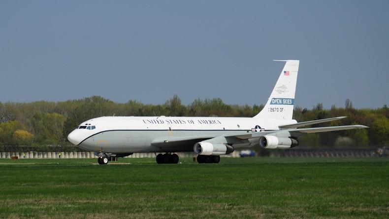 US-Beobachtungsflugzeug fliegt über russisches Gebiet