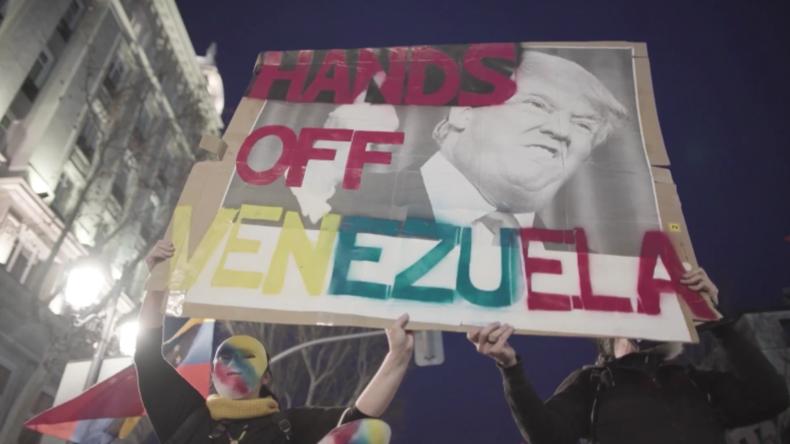 """Spanien: """"Hände weg von Venezuela"""" – Pro-Maduro-Demo in Madrid"""