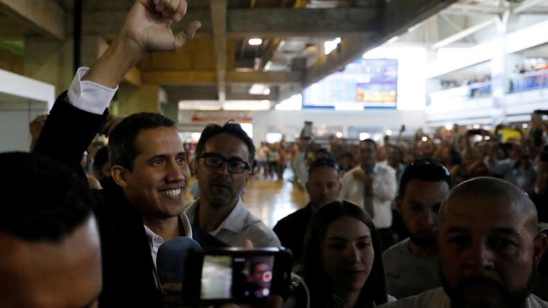 """Guaidó zurück in Venezuela: Empfang durch ausländische """"Leibwächter"""""""