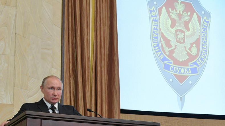Wladimir Putin: Russische Spionageabwehr enttarnte im vergangenen Jahr fast 600 ausländische Spione