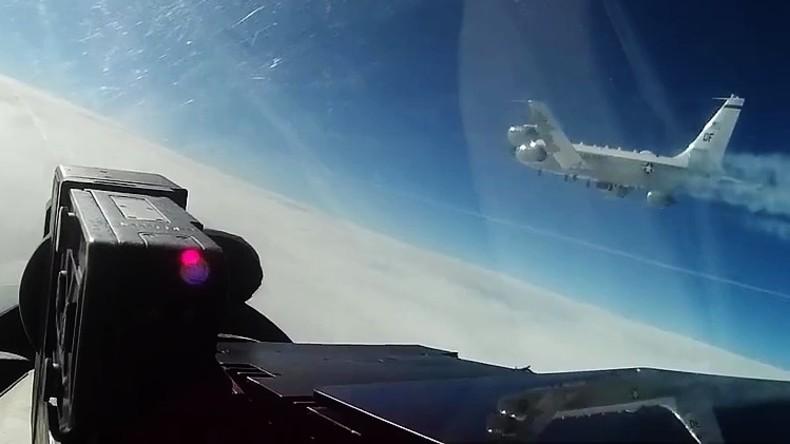 US-Aufklärungsflugzeug vom russischen Jäger über Ostsee abgefangen (Video)
