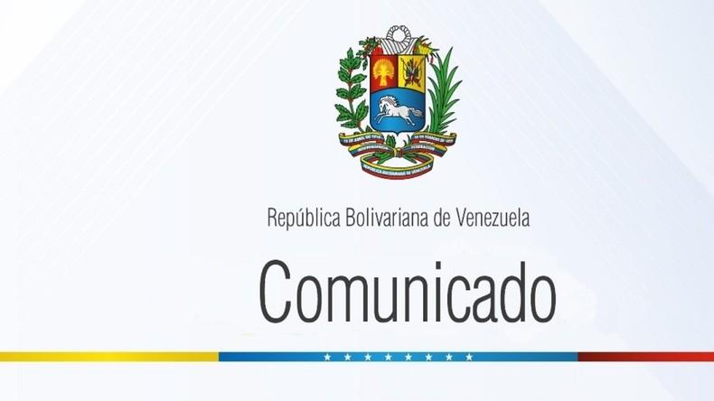Offizielle Erklärung Venezuelas zur Ausweisung des deutschen Botschafters Daniel Kriener