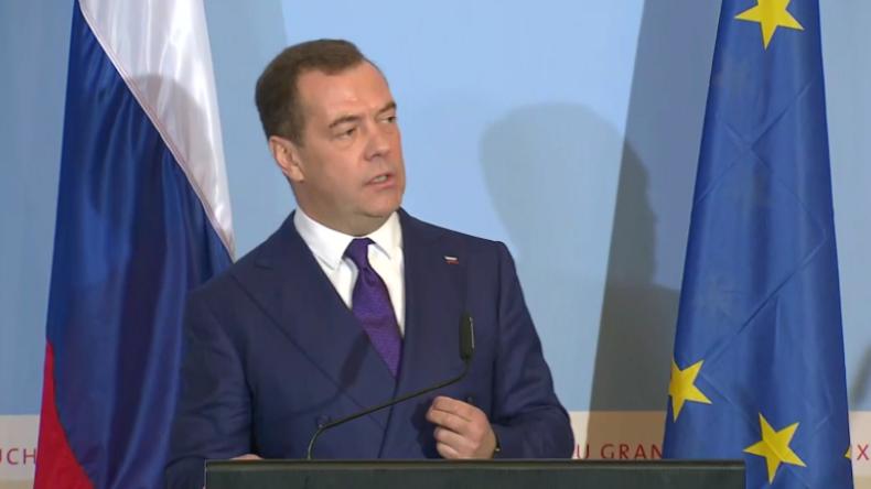 Medwedew in Luxemburg: Raketen aus den USA in Europa würden die ganze Welt in Gefahr bringen