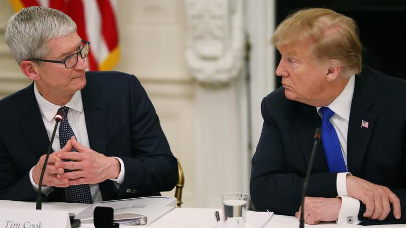 """""""Wir schätzen das sehr, Tim Apple"""": Donald Trump vergisst Namen von Apple-Chef"""