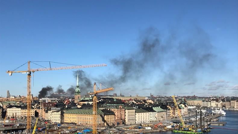 Bus explodiert im Zentrum Stockholms