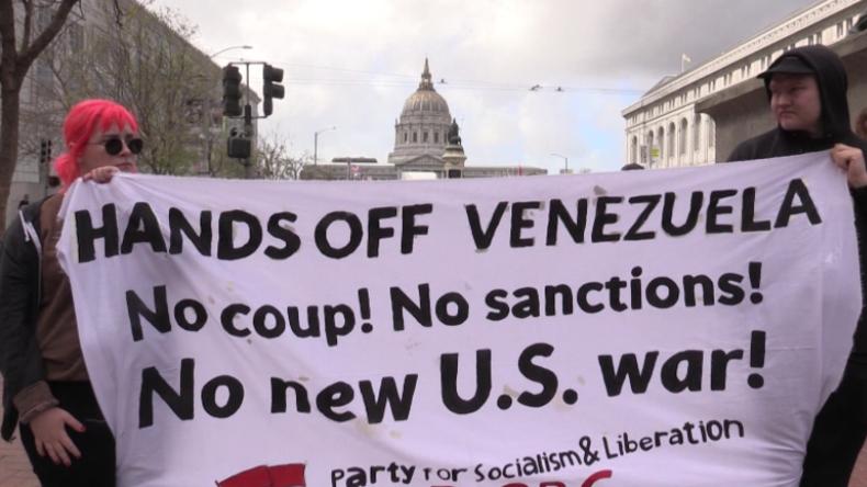 """""""Hände weg von Venezuela!"""": US-Bürger protestieren gegen mögliche US-Intervention in Venezuela"""