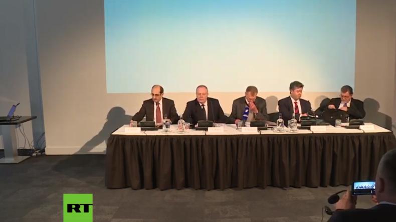 """LIVE: Russische OPCW-Vertreter geben Pressekonferenz zu """"Chemie-Waffen in Syrien"""""""