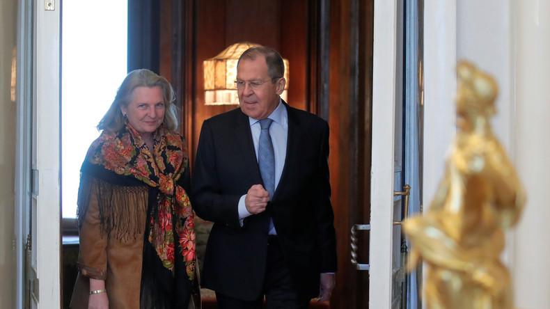 LIVE: Russischer Außenminister Lawrow und österreichische Amtskollegin Kneissl geben Pressekonferenz