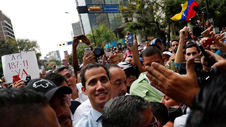 Venezuela: Juan Guaidó zeigt sich zufrieden mit der Krise (Video)