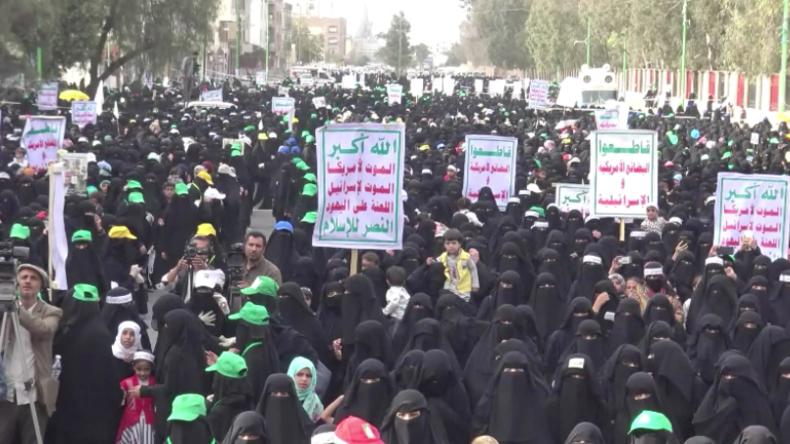 """Jemen: """"Wieder zehn Kinder tot"""" – Hunderte Frauen und Kinder protestieren gegen Luftangriffe"""
