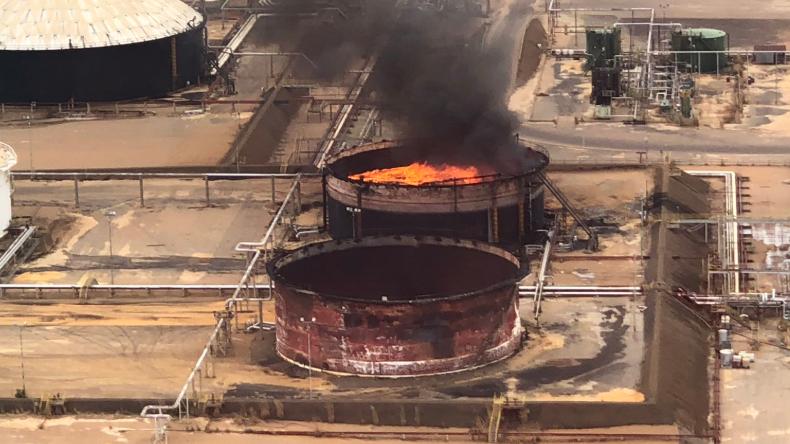 Regierung spricht von Anschlag: Mehrere Öltanks in Venezuela explodiert