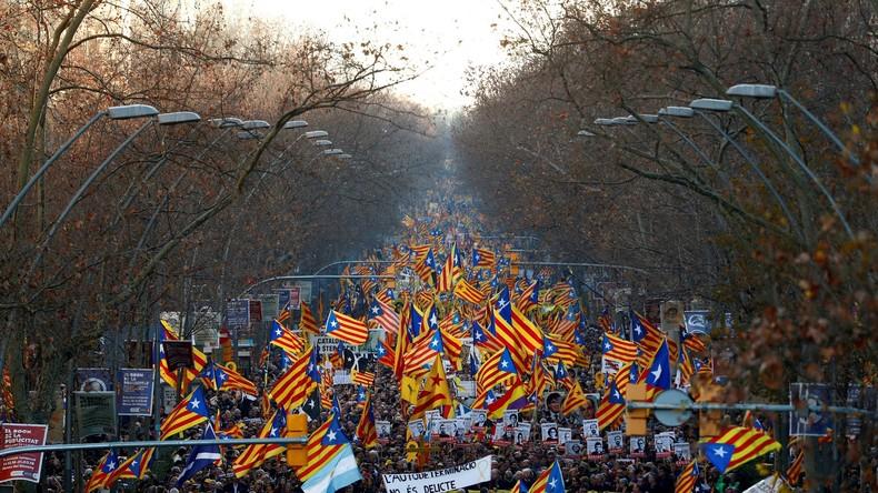 LIVE: Katalanen protestieren inMadridgegen spanische Justiz
