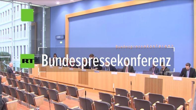 Bundespressekonferenz: CIA-Angriff auf Botschaft in Madrid und Seiberts Kleinkrieg gegen RT Deutsch