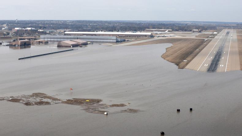 Historisches Hochwasser in den USA: Hauptsitz des Strategischen Kommandos überflutet