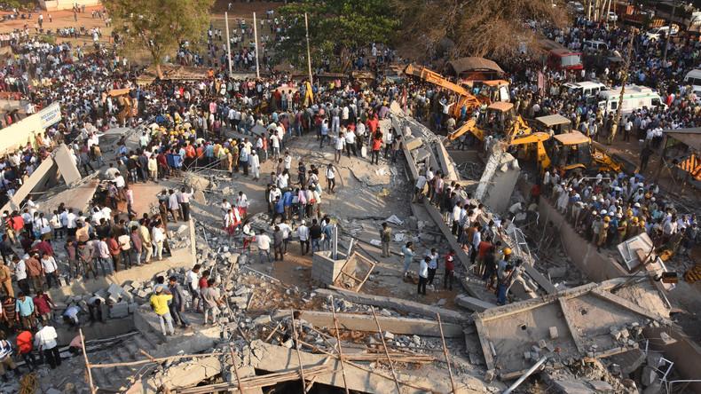 Mindestens vier Tote bei Gebäudeeinsturz in Indien