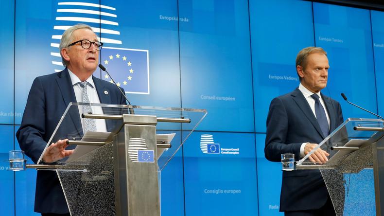 LIVE: Pressekonferenz von Donald Tusk und Jean-Claude Juncker nach EU-Gipfel (Sprache: Deutsch)