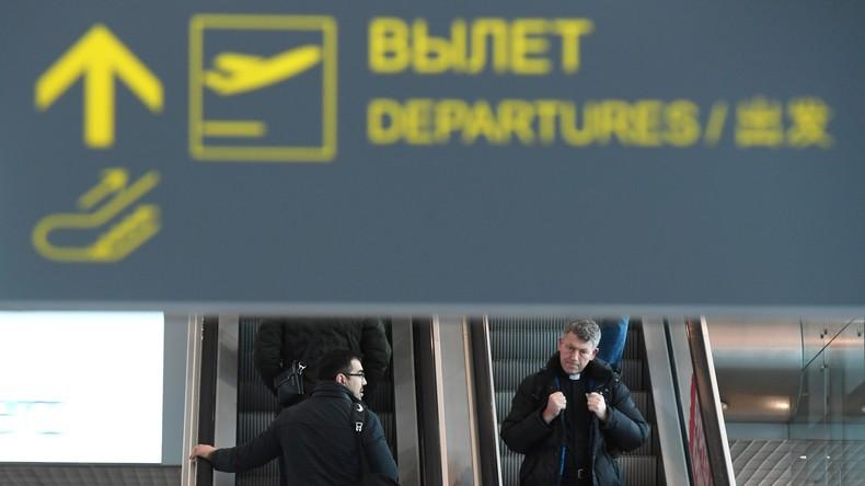 Für bessere Aerodynamik des Körpers: Nackter Mann am Abflug vom Moskauer Flughafen gehindert