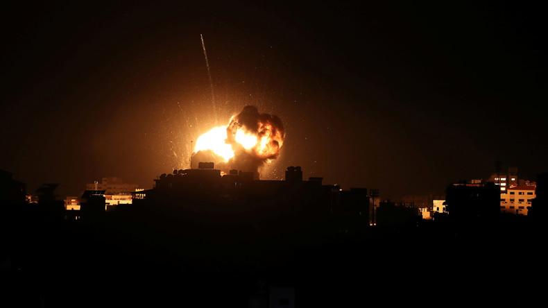 Israelische Luftwaffe bombardiert nach Hamas-Angriff Gaza-Ziele – Büro des Hamas-Chefs zerstört