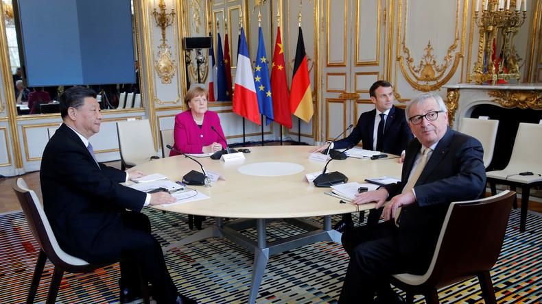 LIVE: Merkel, Macron, Juncker und Xi geben in Paris Erklärungen nach Gesprächen ab