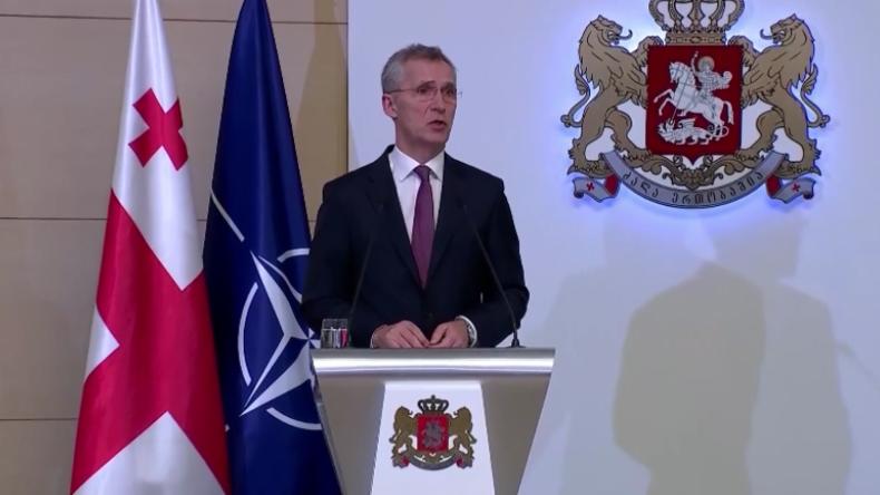 """Stoltenberg in Georgien: """"NATO besorgt über Aufrüstung Russlands in der Schwarzmeerregion"""""""