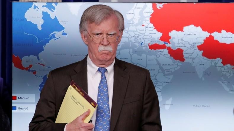 """US-Sicherheitsberater John Bolton: """"USA tolerieren keine Einmischung von außen in Venezuela"""""""
