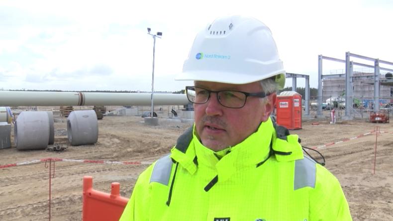 """Deutschland: An der Baustelle von Nord Stream 2 – """"Bauarbeiten verlaufen nach Plan"""""""