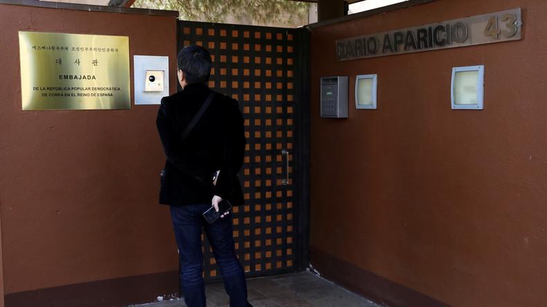 Überfall auf nordkoreanische Botschaft in Madrid: Täter entkamen in die USA