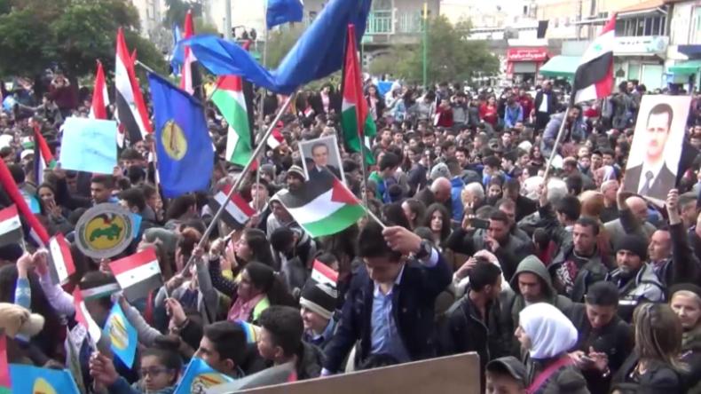 Syrien: Proteste in mehreren Städten nach US-Anerkennung der israelischen Annexion der Golanhöhen