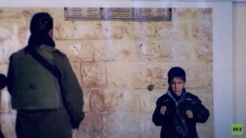 Israelische Armee gegen 10 Jahre alte Kinder (Video)