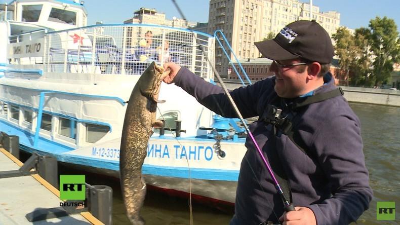 Zwischen Kremltür und Angelhaken: Streetfishing in Moskau