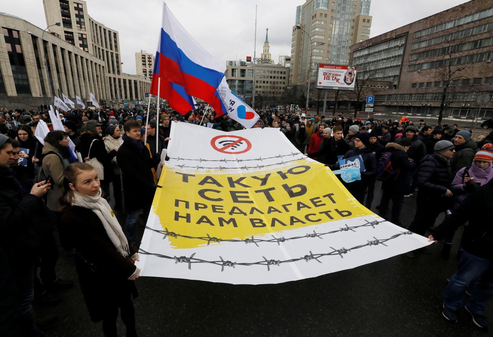 Demo für freies Internet in Moskau – RT und Ruptly sind nicht zugelassen