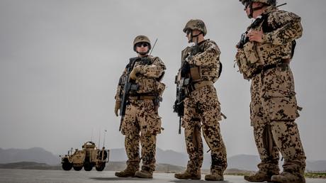 Bundeswehrsoldaten am 25. März 2018 im Camp Marmal in Masar-e-Scharif in Afghanistan. Es ist das größte Feldlager der Bundeswehr außerhalb Deutschlands.