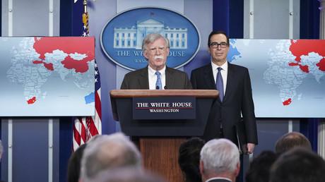 Der nationale Sicherheitsberater John Bolton spricht bei einem Briefing im Brady Briefing Room des Weißen Hauses in Washingtonam 28. Januar 2019.